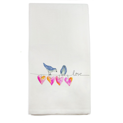 Hearts on a Wire Dishtowel
