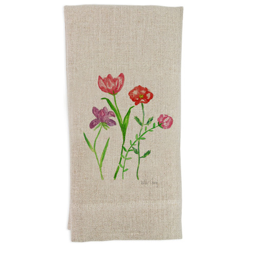 Floral Wild Thing Guesttowel