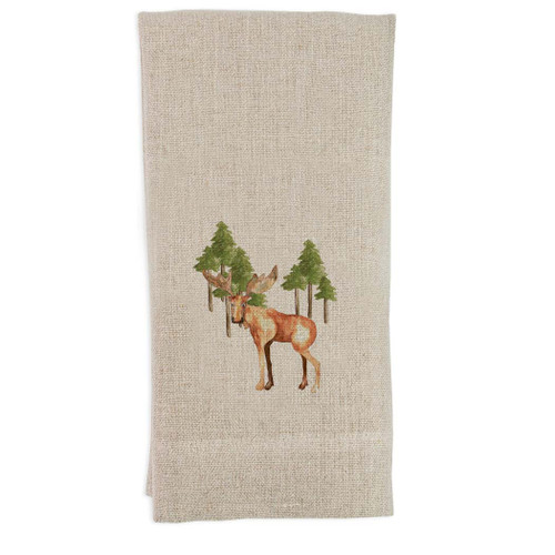 Moose with Trees Guest Towel