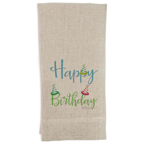 Happy Birthday with Hats Guesttowel