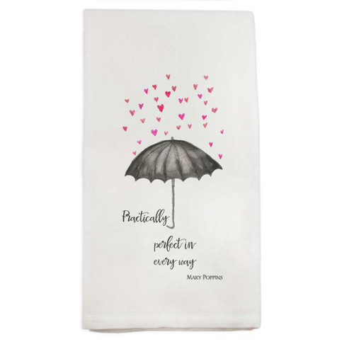 Practically Perfect Umbrella Dishtowel