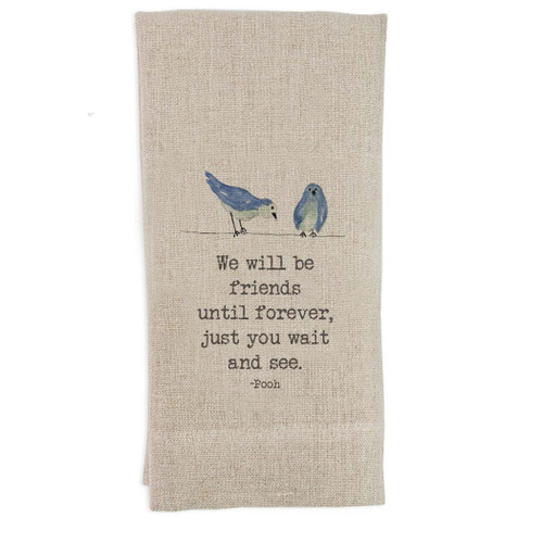 We Will Be Friends with Birds Guesttowel