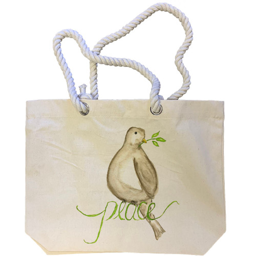 Peace Bird Tote Bag