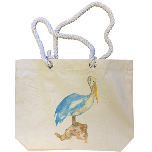 Blue Pelican Tote Bag