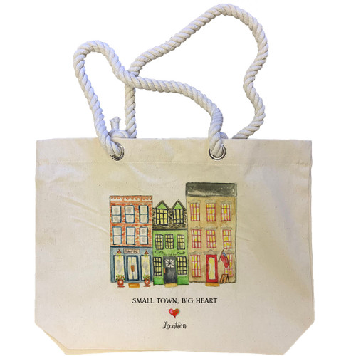 Small Town Big Heart Location Tote Bag
