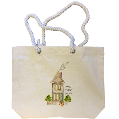Tall House Home Sweet Home Tote Bag