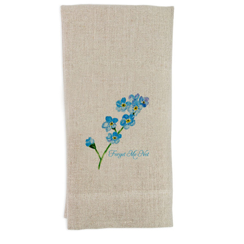 Forget Me Not Guest Towel