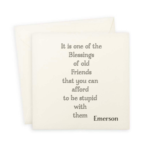 Old Friends Quote Note Card