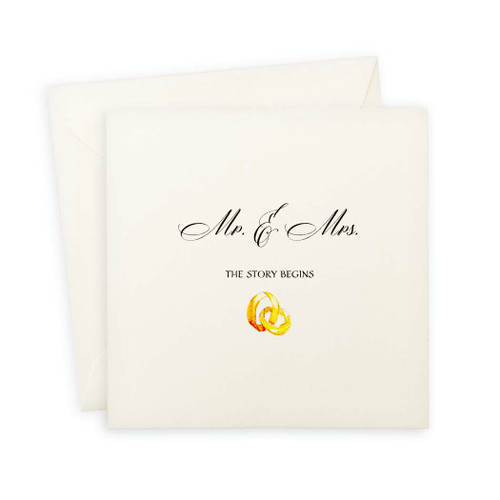 Mr. and Mrs. With Rings Note Card