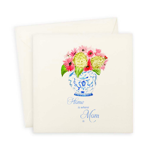 Ginger Jar Home Is Where Mom Is Note Card