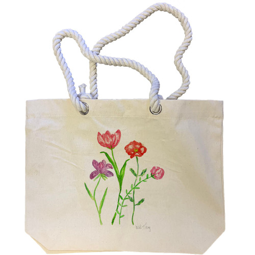 Floral Wild Thing Tote Bag
