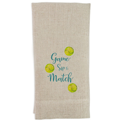 Tennis Game Sip and Match Guesttowel