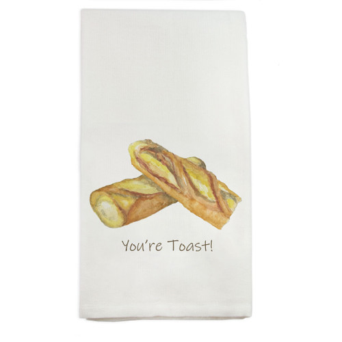 Baguette with Quote Dishtowel
