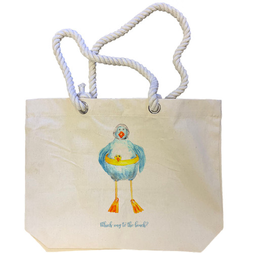 Duck Which Way to the Lake Tote Bag