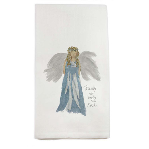 Blue Angel with Quote Dishtowel