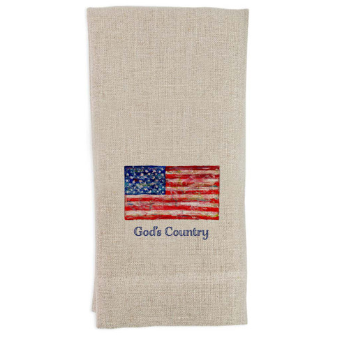 Flag with God's Country Guesttowel