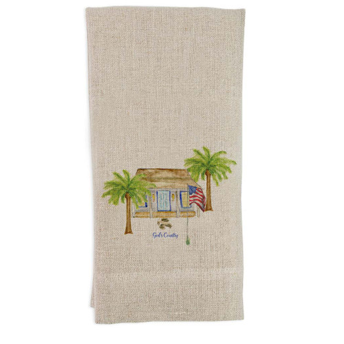 White House with Palm Trees and Quote Guesttowel