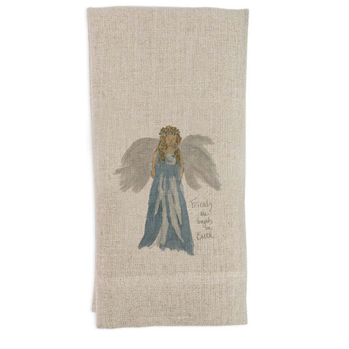 Blue Angel with Quote Guesttowel