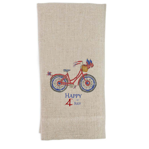 Patriotic Bike with Quote Guesttowel