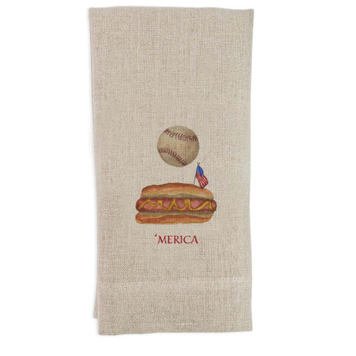 Baseball with Hot Dog and 'Merica Guesttowel