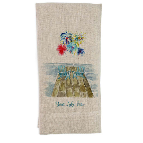 Dock with Fireworks and Location Guesttowel