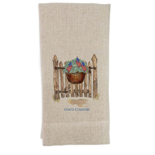 Patriotic Gate with Quote Guesttowel