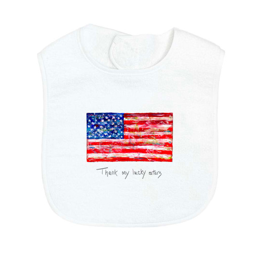 Flag with Quote Bib
