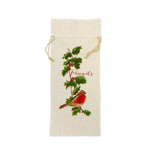 Holly and Bird with Friends Wine Bag