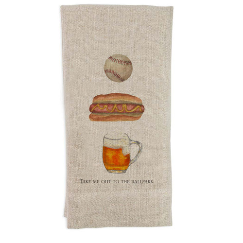 Take Me Out to the Ballpark Guest Towel