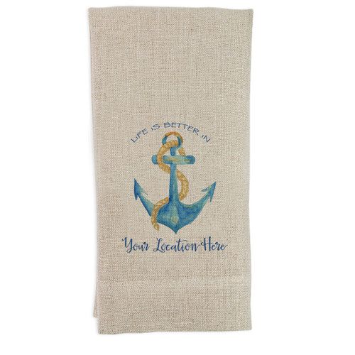 Life Is Better  Location Guest Towel