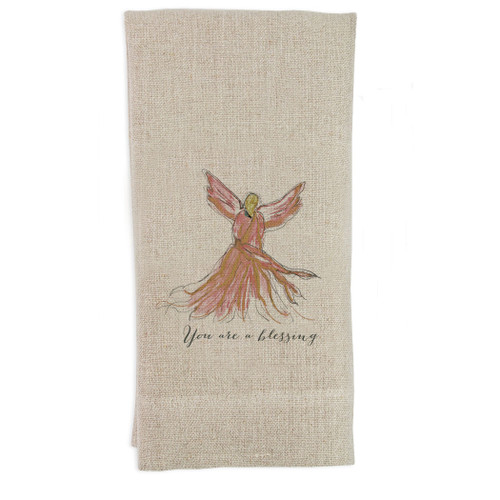 Angel Pink You Are Blessed Guest Towel