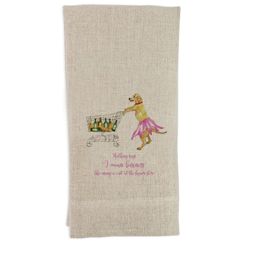 Tucker Shopping with Quote Guesttowel