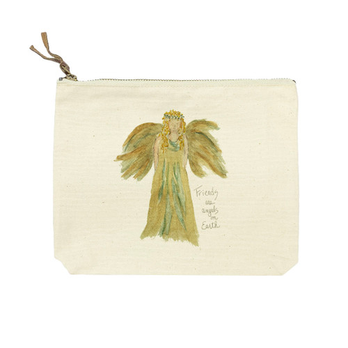 Golden Angel with Quote Cosmetic Bag