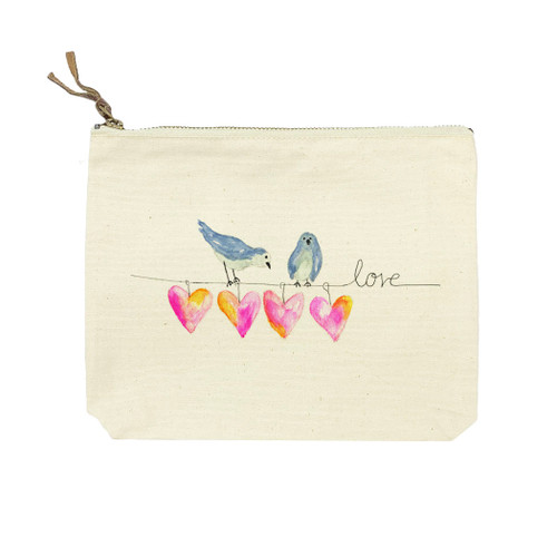 Hearts On a Wire Cosmetic Bag