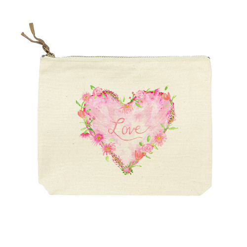 Solid Heart with Love Cosmetic Bag