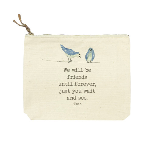 Birds with We Will Be Friends Cosmetic Bag