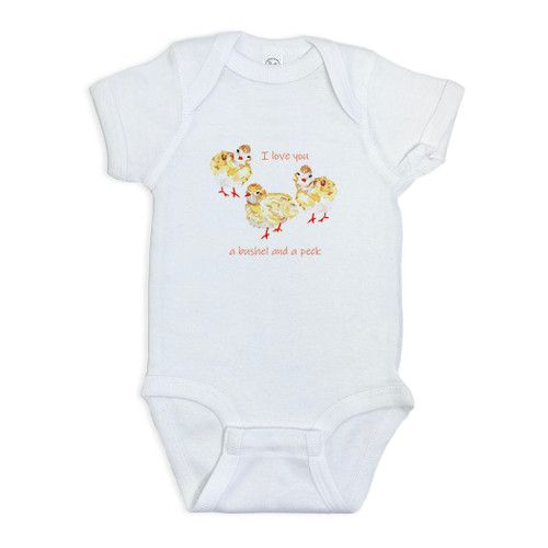 Three Baby Chicks with Quote Onesie