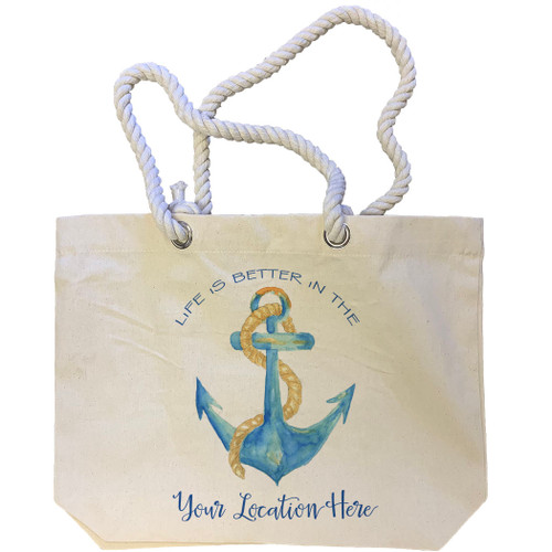Life Is Better Anchor Location Tote Bag