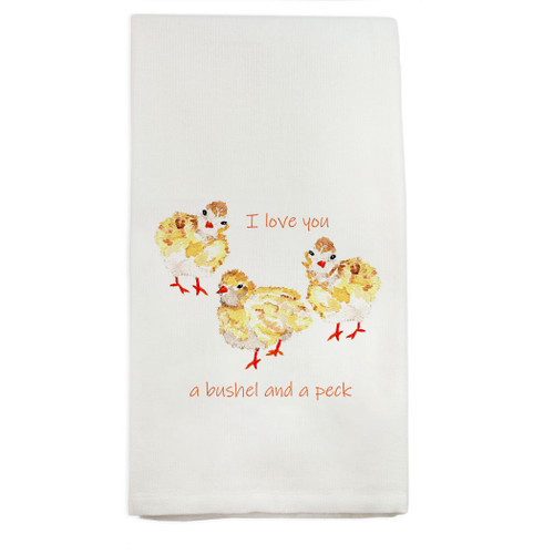 Baby Chicks with Quote Dishtowel