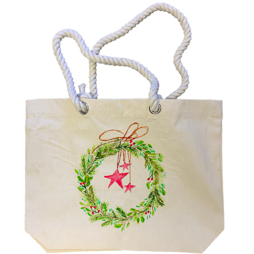 Wreath with Star Tote Bag