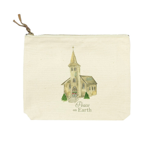 Church with Peace on Earth Cosmetic Bag