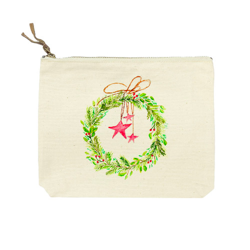 Wreath with Stars Cosmetic Bag