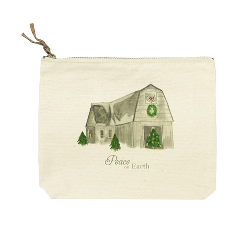 Barn with Peace on Earth Cosmetic Bag