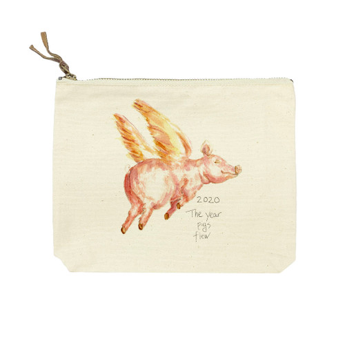 Flying Pig with Quote Cosmetic Bag