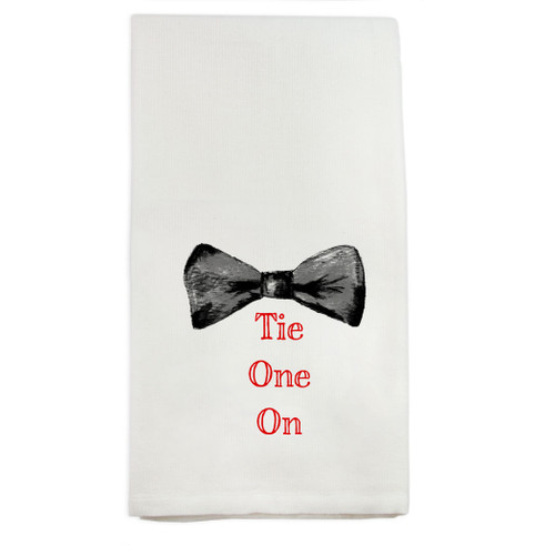 Tie Black with Red Dishtowel