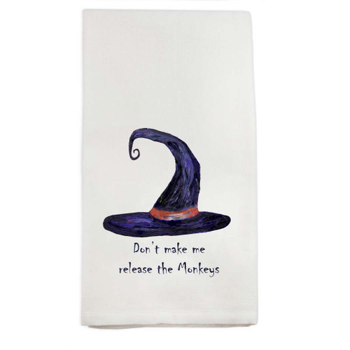 Witches and Monkeys Dishtowel