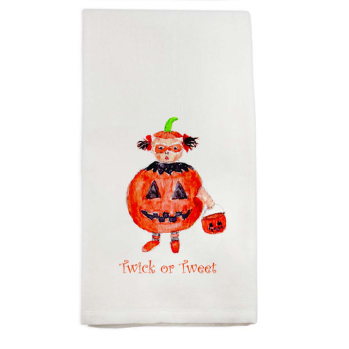 Twick or Tweet Dishtowel