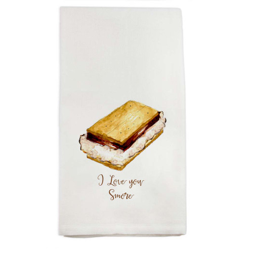 I Love You Smore Dishtowel
