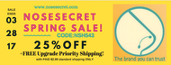 Nosesecret Spring Sale! Don't Miss Out!