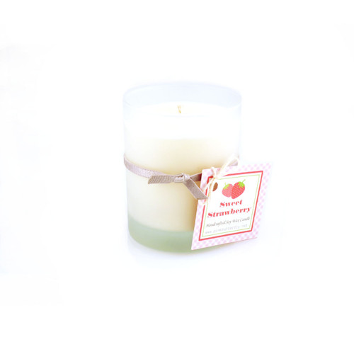 Sweet Scent of Your Choice - Soy Candle in Frosted Glass